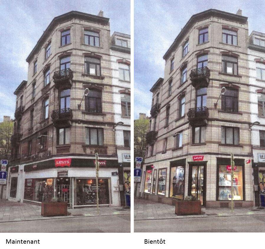 Restauration De L Immeuble Levi S Chaussee D Ixelles Yves Rouyet Ixelles