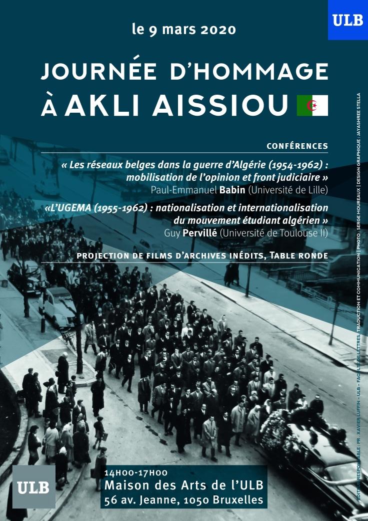 hommage à akli aissiou affiche